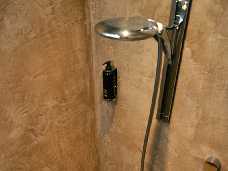 モールテックス施工事例|シャワールームの壁
