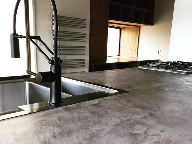 キッチンカウンター・水場2(w8w)|モールテックス施工事例
