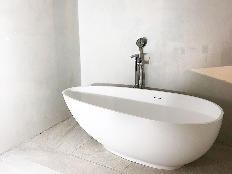 東京・新築戸建の浴室洗面脱衣室と壁天井3(モールテックス施工事例)|株式会社アートモリヤ